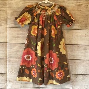 🍁🍂Le' Za Me FALL SMOCKED DRESS SIZE 24M🍂🍁